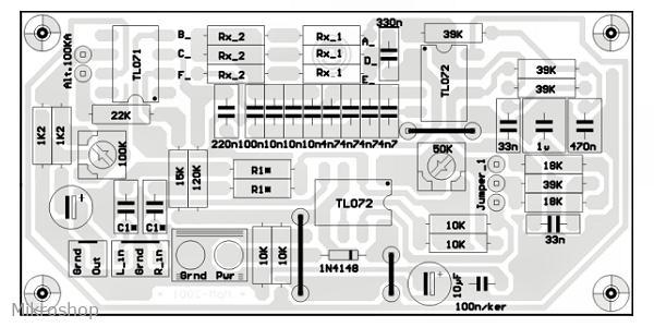 KIT szubbasszus-szűrő aktív 18dB/okt.