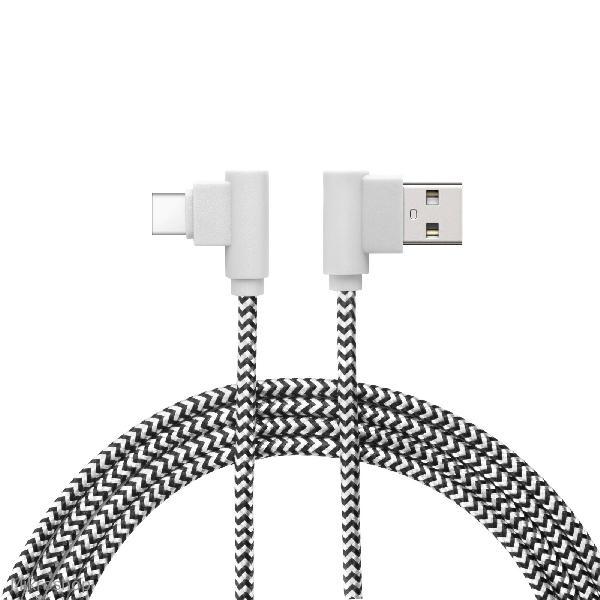 Adatkábel - USB Type-C Gamer 90°-os kialakítás 2 m  55-444C
