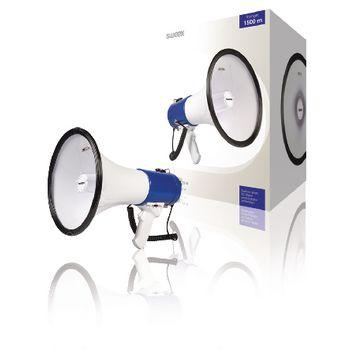 Megafon Levehető Mikrofon Fehér/Kék 25 W MEGA25
