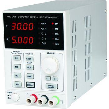 Labortápegység 1 Csat. 0...30 VDC 5 A RND320-KA3005D