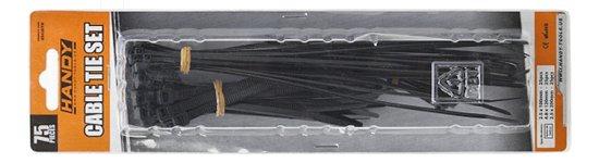 Kábelkötegelő-szett  75 db fekete 05-430BK