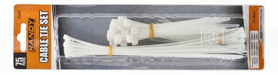 Kábelkötegelő-szett  75 db transparens 05430TR