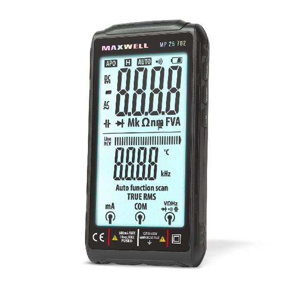 Smart, digitális multiméter - Bluetooth, LED háttérvilágítás 25-521