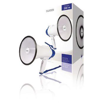 Megafon Beépített mikrofon Fehér/Kék MEGA10