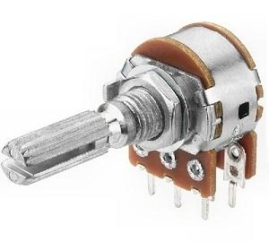 Alpha potenciométer stereo 2x1M logaritmikus