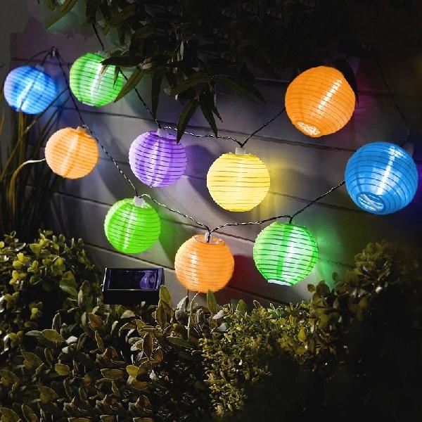 LED-es szolár lámpa műanyag, színes 19 cm 11-388X