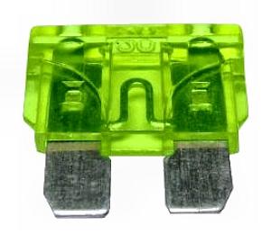Biztosíték normál késes 30A zöld