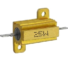 0R1 ellenállás 25W fémházas hűtőfelülettel