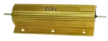 1R ellenállás 50W fémházas hűtőfelülettel