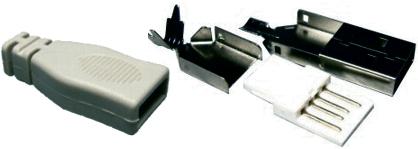 USB A szerelhető dugó 05-050