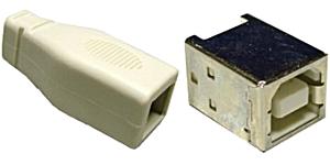 USB B szerelhető aljzat 05-055