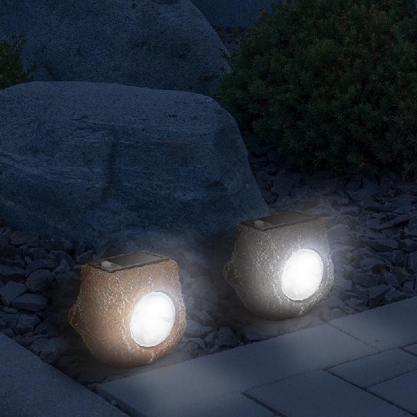 LED-es szolár kőlámpa 11-389B