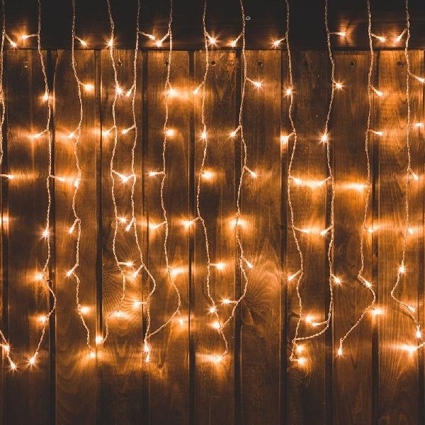 Karácsonyi LED fényfüggöny - 220 x 150 cm - melegfehér - 8 funkció - IP44 58-039