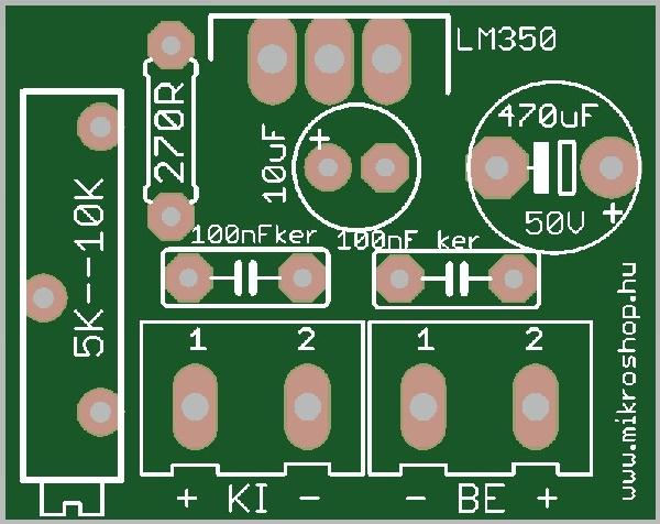 KIT tápegység szabályozható 3A LM350-el
