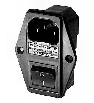 230V dugó fix kapcsolós, biztosítékos ACC-FDSF 300-725