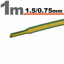 Zsugorcső  1,5/0,75 mm Sárga-zöld