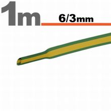 Zsugorcső  6,0/ 3,0 mm Sárga-zöld