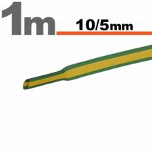 Zsugorcső 10,0/ 5,0 mm Sárga-zöld