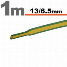 Zsugorcső 13,0/ 6,5 mm Sárga-zöld