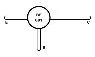 BF681 Tranzisztor