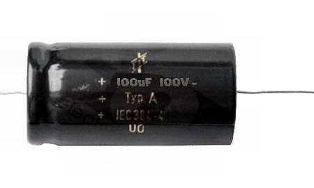100uF / 100 V bipoláris elkó