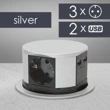 Elosztó -Rejtett- 3-as + USB 20-433