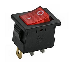 Kapcsoló billenő KB120S-1 09-019 piros