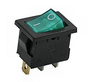 Kapcsoló billenő KB120S-2 09-019 zöld