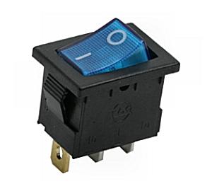 Kapcsoló billenő KB120S-3 09-019 kék