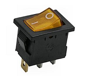 Kapcsoló billenő KB120S-4 09-019 sárga