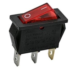 Kapcsoló billenő KB130M-1 09-050 piros