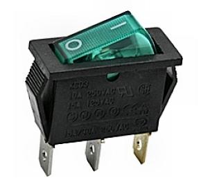 Kapcsoló billenő KB130M-2 09-050 zöld