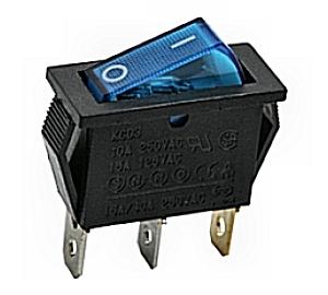 Kapcsoló billenő KB130M-3 09-050 kék