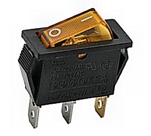 Kapcsoló billenő KB130M-4 09-050 sárga