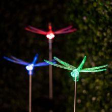 RGB LED-es szolár lámpa szitakötő 11393B