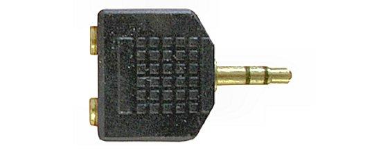 Y elosztó Jack 3,5  stereo dugó -► 2x Jack 3,5 stereo alj AC012G