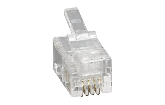 RJ moduláris csatlakozó 4P4C (10 db.) 05-217