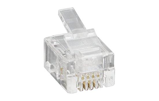 RJ moduláris csatlakozó 6P4C (10db.) 05-216
