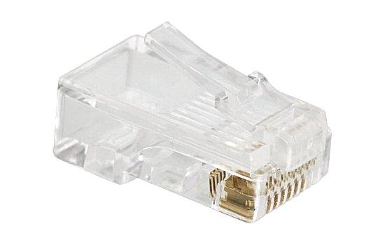 RJ moduláris csatlakozó 8P8C (RJ45) CAT5 (10 db.) 05-232