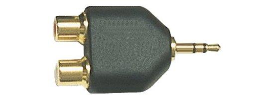 Közösítő 2 x RCA alj -► Jack 3,5 stereo dugó AC010G