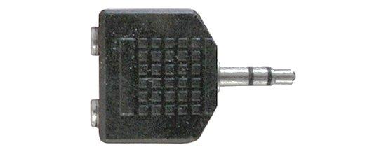 Y elosztó Jack 3,5  stereo dugó -► 2x Jack 3,5 stereo alj AC012
