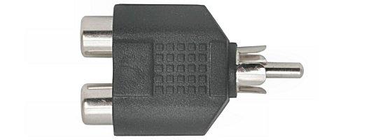 Y elosztó RCA dugó -► 2 x RCA alj AC016
