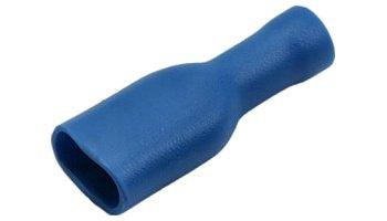 Csúszósaru hüvely 6,3 / 2,3 mm kék 100 db. 02-342AB