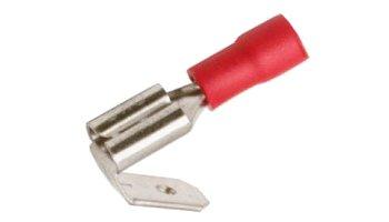 Csúszósaru dugó + alj 6,3 / 1,7 mm piros 100 db. 05-636