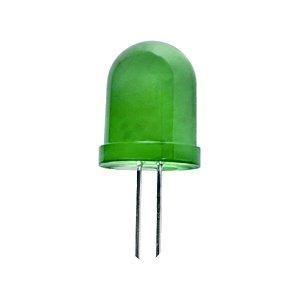 LED 10 mm villogó  normál diffúz zöld