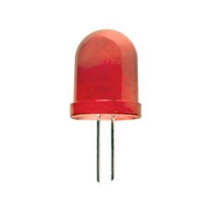 LED 10 mm villogó  normál diffúz piros