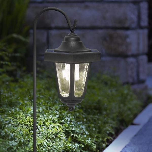 Led-es szolár lámpa műanyag, virágmintás 23 cm 11-388V
