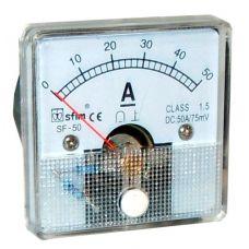 Analog 50 x 50 ampermérő DC SF50-14