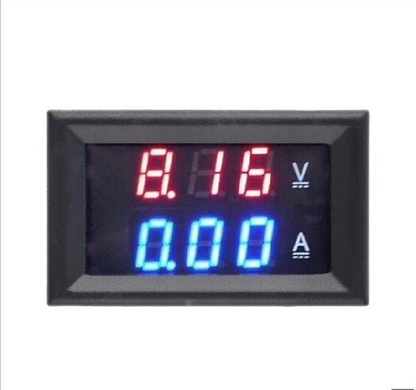 0-100V / 10A Piros/Kék digitális voltmérő Ampermérő 2in1