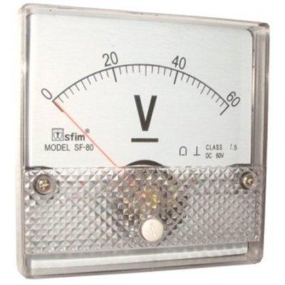 Analog 80 x 80 feszültségmérő DC SF80-12